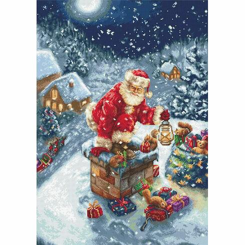 Santa's Chimney Cross Stitch Kit
