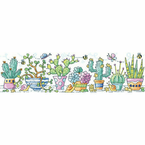 Cactus Garden Cross Stitch Kit