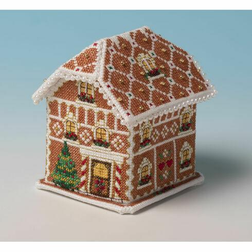 Gingerbread Lodge 3D Cross Stitch Kit