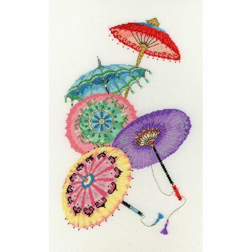 Parasols Cross Stitch Kit