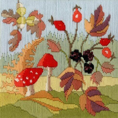 Autumn Seasons Long Stitch Kit