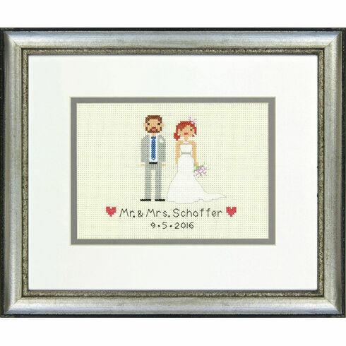 Bride & Groom Cross Stitch Wedding Sampler Kit