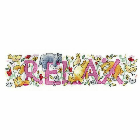 'Relax' Cross Stitch Kit