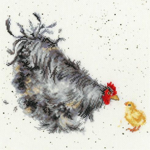 Mother Hen Cross Stitch Kit