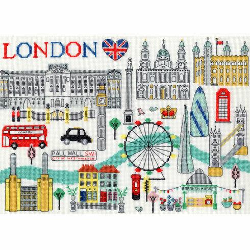 Love London Cross Stitch Kit