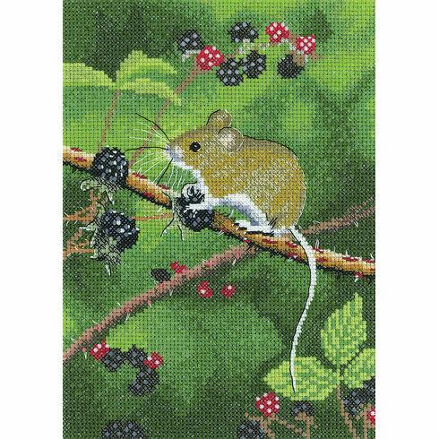 Wood Mouse Cross Stitch Kit