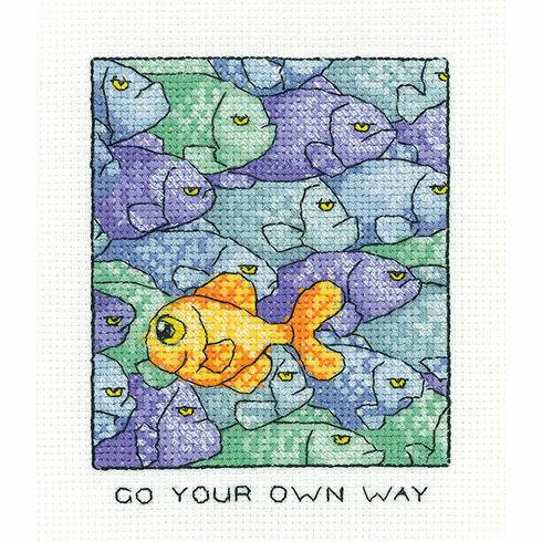 Go Your Own Way Cross Stitch Kit