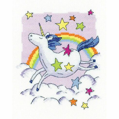Unicorn Cross Stitch Kit by Karen Carter
