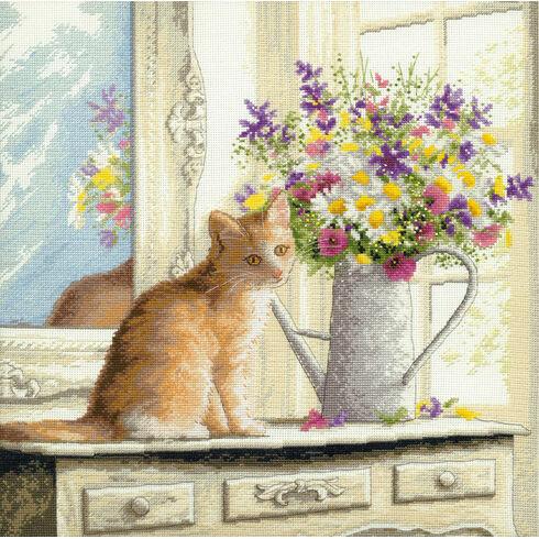 Kitten In The Window Cross Stitch Kit