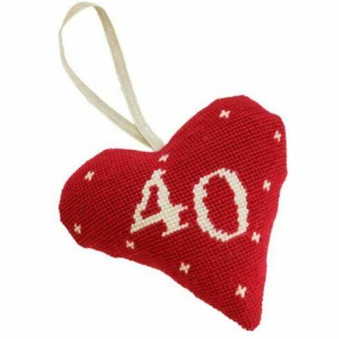 40th Birthday / Anniversary Heart Tapestry Kit