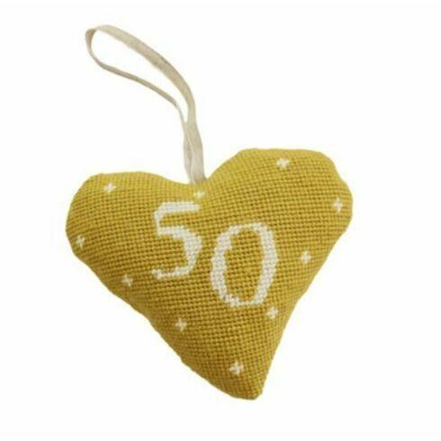 50th Birthday / Anniversary Heart Tapestry Kit