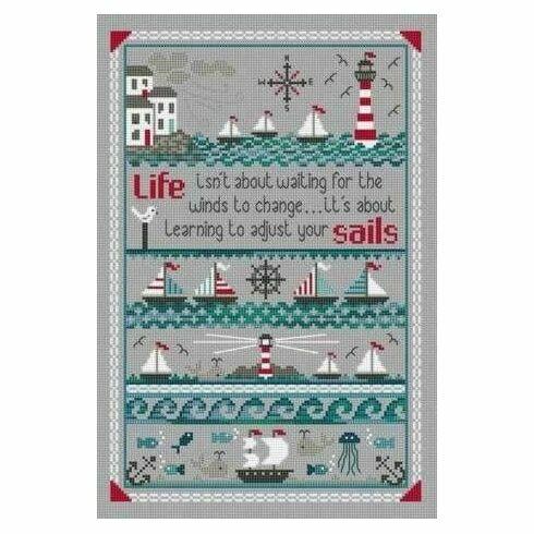 Adjust Your Sails Cross Stitch Kit
