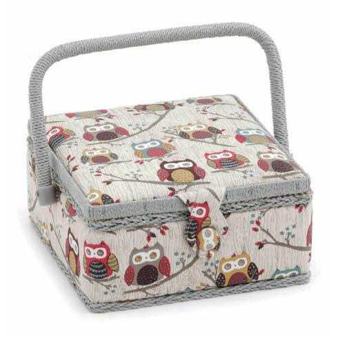 Hobby Gift Small Square Sewing Box - Hoot Design
