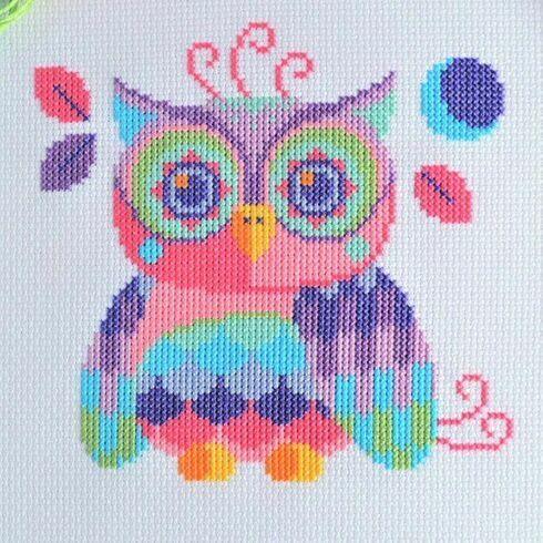 Florence The Owl Cross Stitch Kit