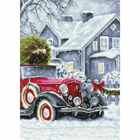 Winter Holidays Cross Stitch Kit