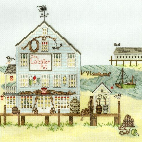 New England: The Lobster Pot Cross Stitch Kit