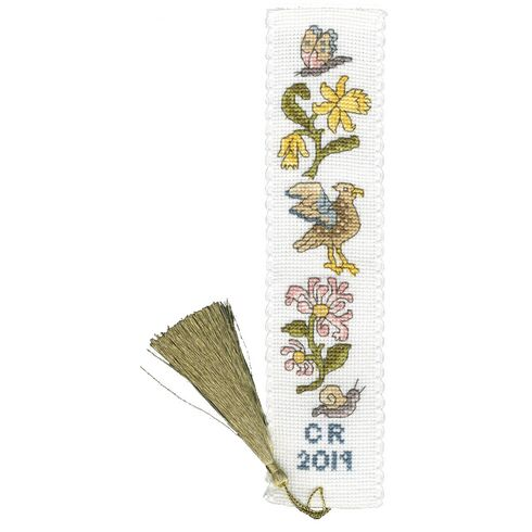 Daffodil And Honeysuckle Bookmark Cross Stitch Kit