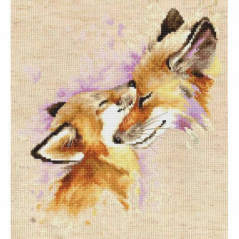 Foxes Cross Stitch Kit