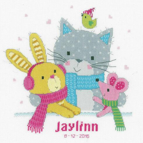 Best Friends Birth Sampler Cross Stitch Kit
