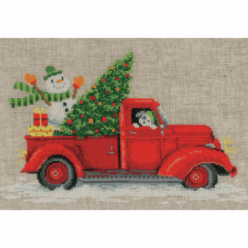 Christmas Truck Cross Stitch Kit