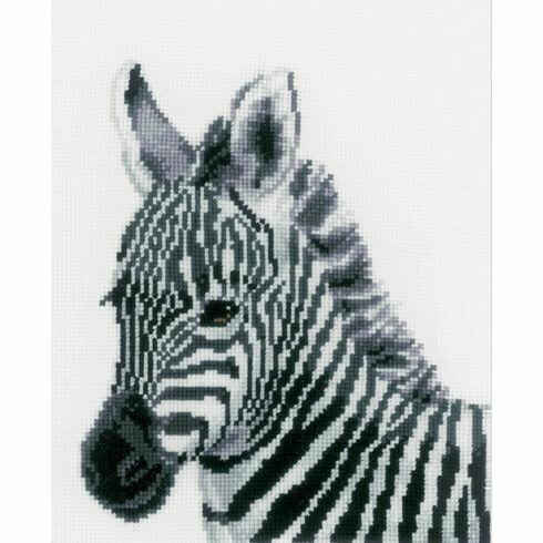 Zebra Cross Stitch Kit