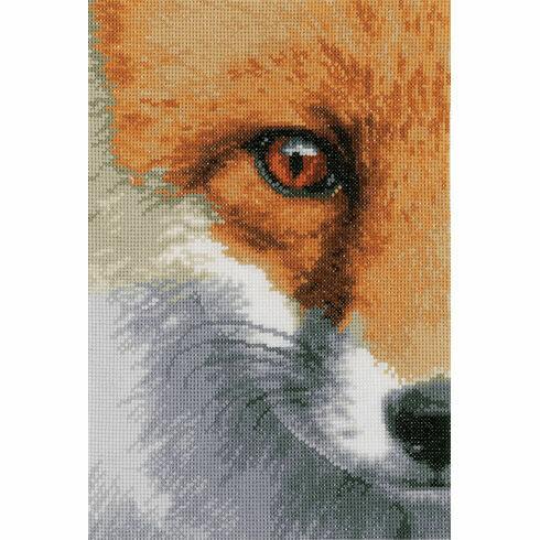 Fox Close-Up Cross Stitch Kit