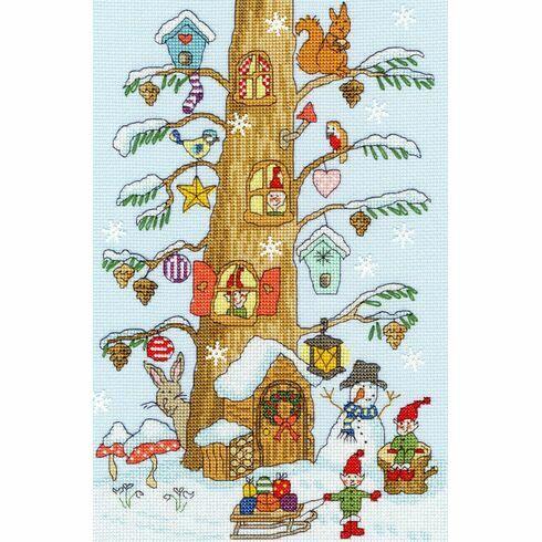 Santa's Little Helpers Cross Stitch Kit