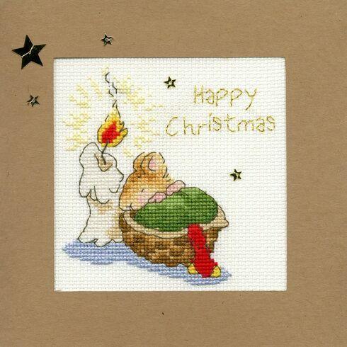 First Christmas Cross Stitch Christmas Card Kit