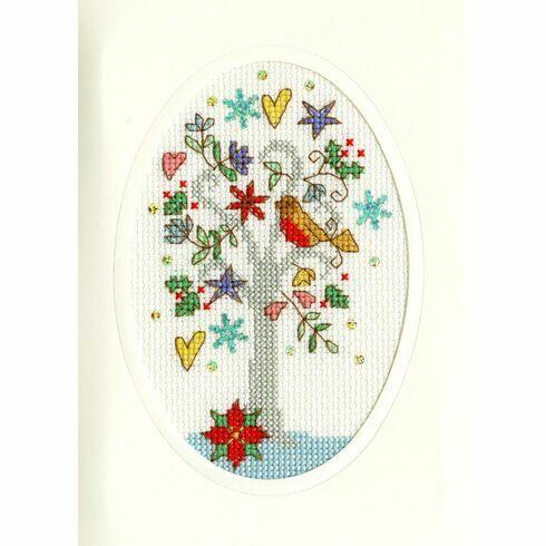 Winter Wishes Cross Stitch Christmas Card Kit