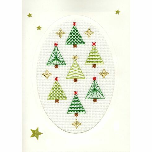 Christmas Forest Cross Stitch Card Kit