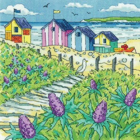 Sea Holly Shore Cross Stitch Kit