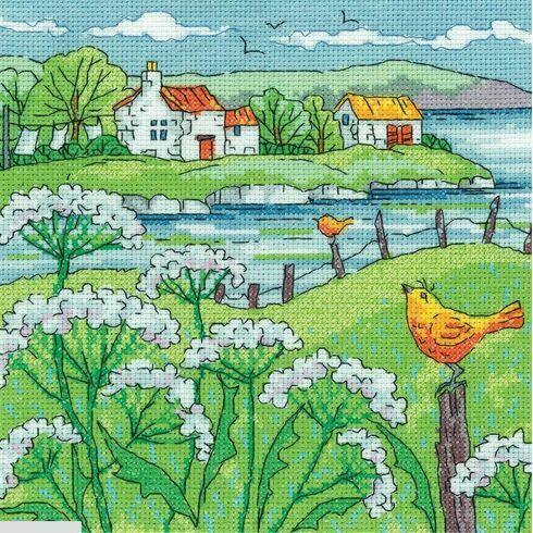 Cow Parsley Shore Cross Stitch Kit