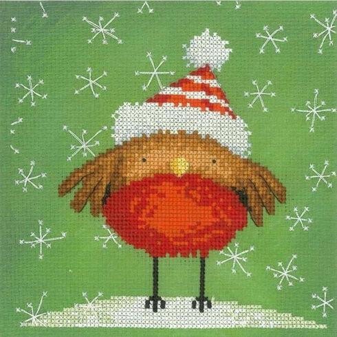 Christmas Robin Red Breast Cross Stitch Kit
