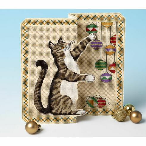 Christmas Mischief 3D Cross Stitch Card Kit