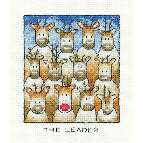 The Leader Christmas Reindeer Cross Stitch Kit