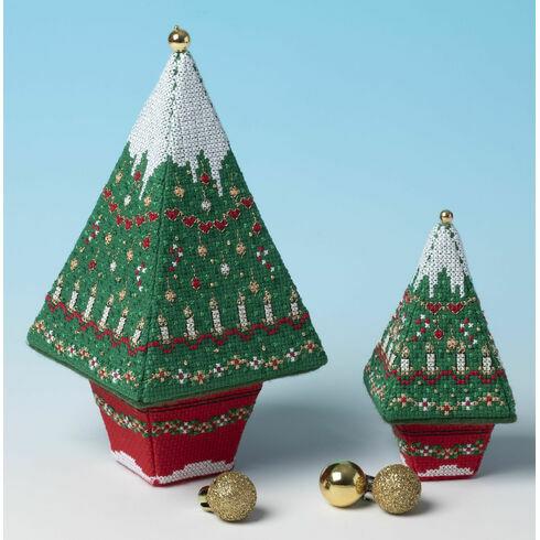 Advent Tree Tall & Small 3D Cross Stitch Kits - Set of 2