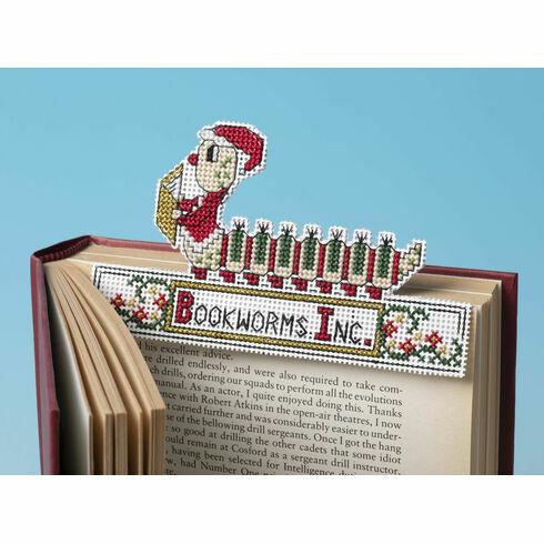 Santa Bookworm 3D Cross Stitch Kit