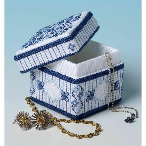 Lapis Lazuli Trinket Box 3D Cross Stitch Kit