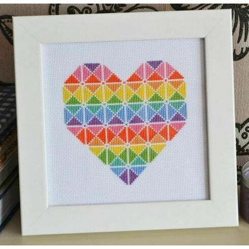Geometric Heart Cross Stitch Kit