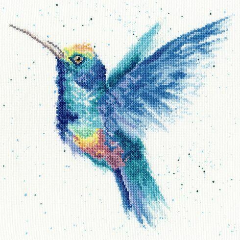 Rainbow Hummingbird Cross Stitch Kit