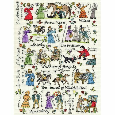 The Brontës Literature Cross Stitch Kit
