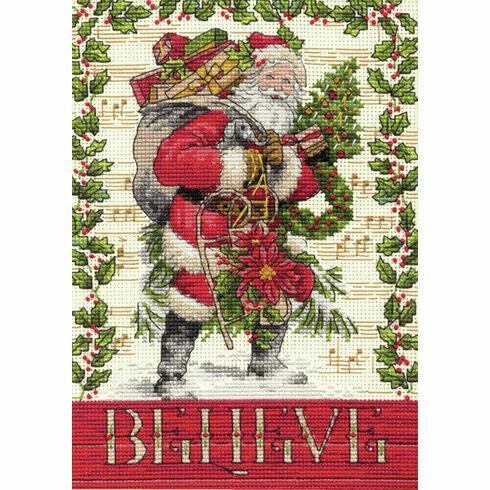 Believe In Santa Cross Stitch Kit
