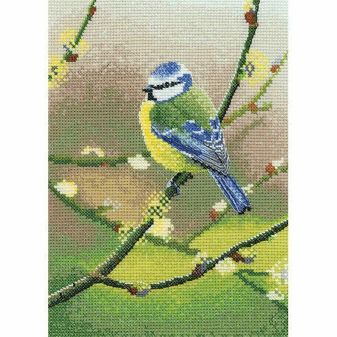 Blue Tit Cross Stitch Kit