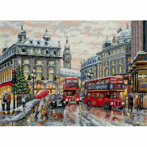 London In The Snow Cross Stitch Kit