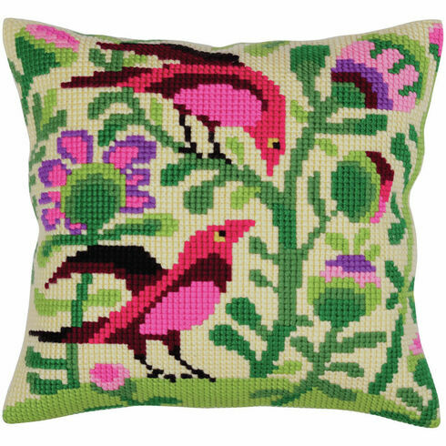 Birds Of Paradise 1 Cross Stitch Cushion Panel Kit