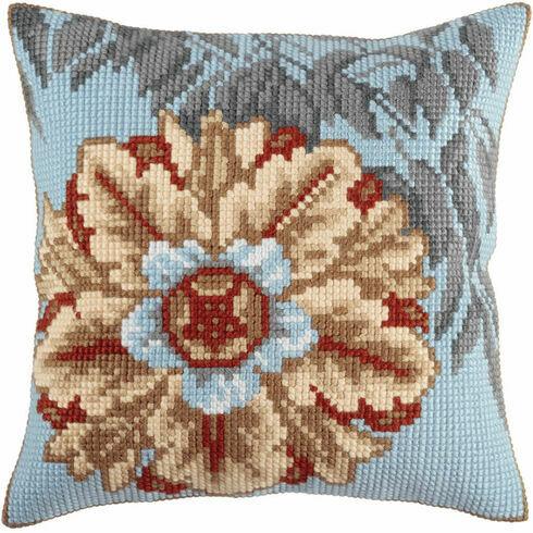 Azure Flower 1 Cross Stitch Cushion Panel Kit