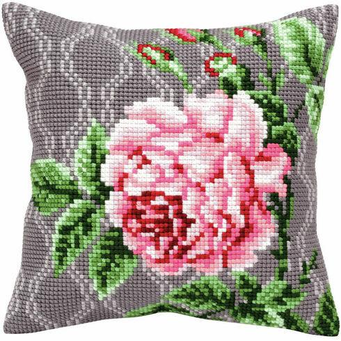 Tender Rose 2 Cross Stitch Cushion Panel Kit