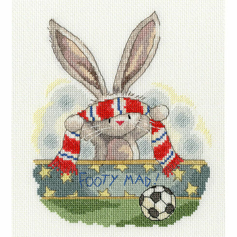 Bebunni Footy Mad Cross Stitch Kit