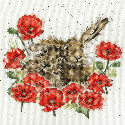 Love Is In The Hare Cross Stitch Kit