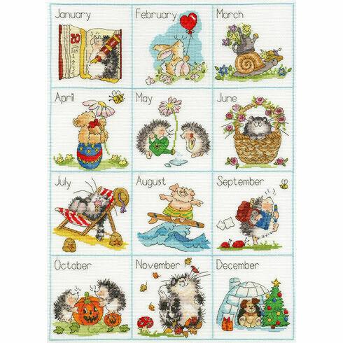 Calendar Creatures Cross Stitch Kit